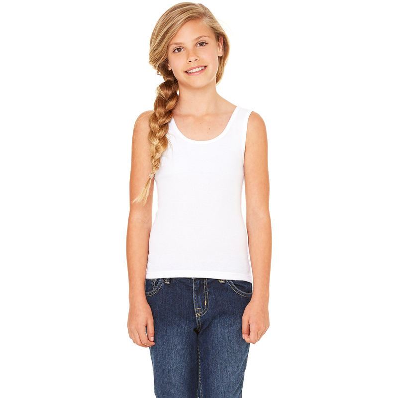Girls' Stretch Rib Tank