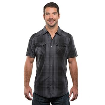 Men's Plaid Pattern Western Woven