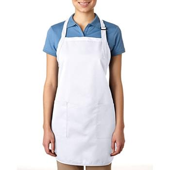 65% polyester / 35% cotton Deluxe Full-Length Bib Apron