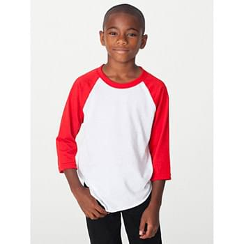 Youth Poly-Cotton 3/4-Sleeve T-Shirt