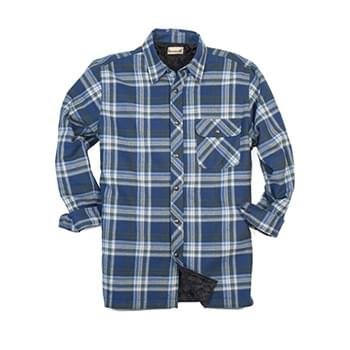 Men's Tall Flannel Shirt Jacket with Quilt Lining