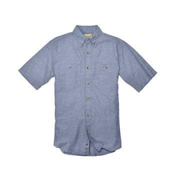 Men's Tall Slub Chambray Short-Sleeve Shirt