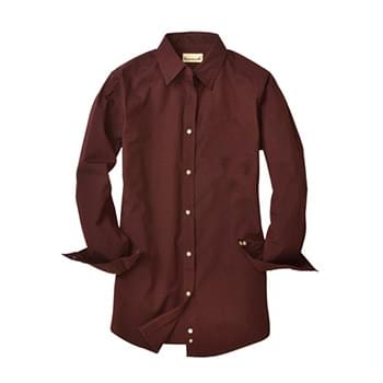 Ladies' Nailshead Long-Sleeve Woven Shirt