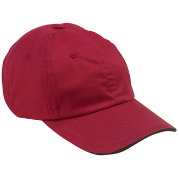 6-Panel Unstructured Cap with Sandwich Bill