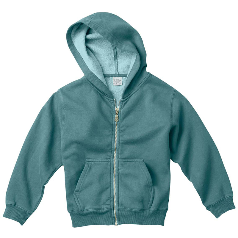 Youth 10 oz. Garment-Dyed Full-Zip Hooded Sweatshirt