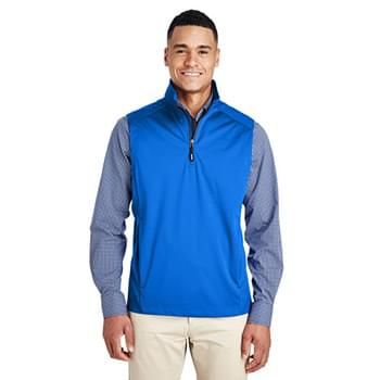 Men's Techno Lite Three-Layer Knit Tech-Shell Quarter-Zip Vest