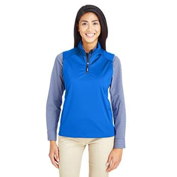 Ladies' Techno Lite Three-Layer Knit Tech-Shell Quarter-Zip Vest