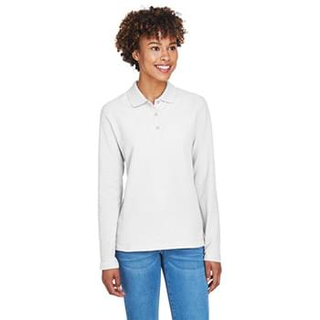 Ladies' Pima Piqu Long-Sleeve Polo