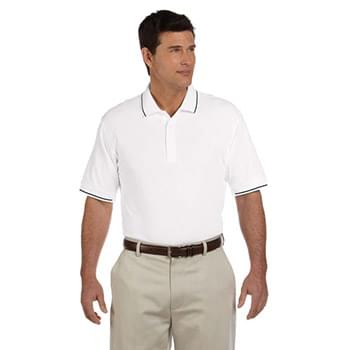 Men's Pima Piqu Short-Sleeve Tipped Polo