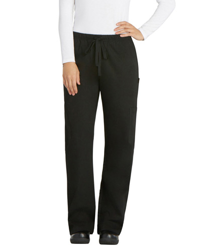 Laidies' Elastic Drawstring Low-Rise Pant