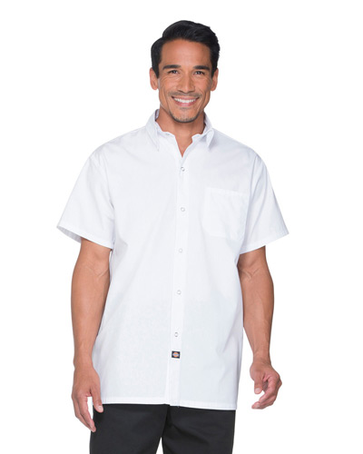 Unisex Poplin Short Sleeve Cook Shirt