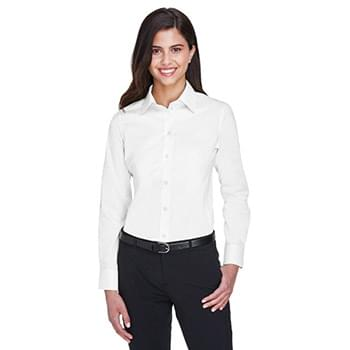 Ladies' Crown Woven Collection Solid Stretch Twill