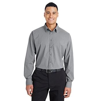 CrownLux Performance Men's Tonal Mini Check Shirt