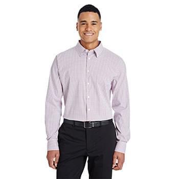 CrownLux Performance Men's Micro Windowpane Shirt