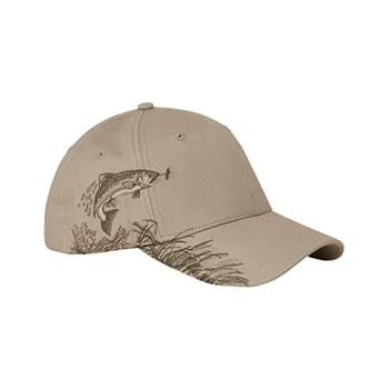 Brushed Cotton Twill Trout Cap