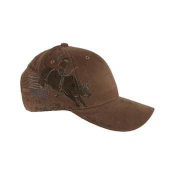 Brushed Cotton Twill Bull Rider Cap