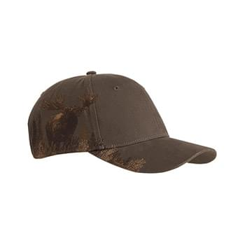 Brushed Cotton Twill Moose Cap