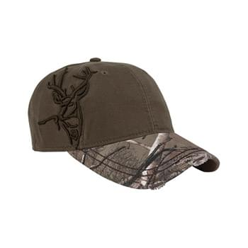 Brushed Cotton Twill Buck 3D Cap