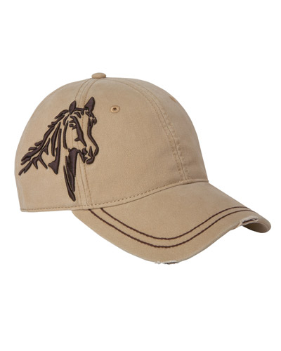 3D Horse Soft Structured Mid-Profile Hat