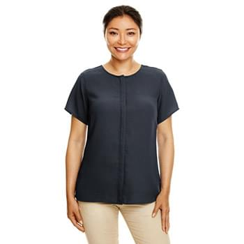 Ladies' Perfect Fit  Short-Sleeve Crepe Blouse