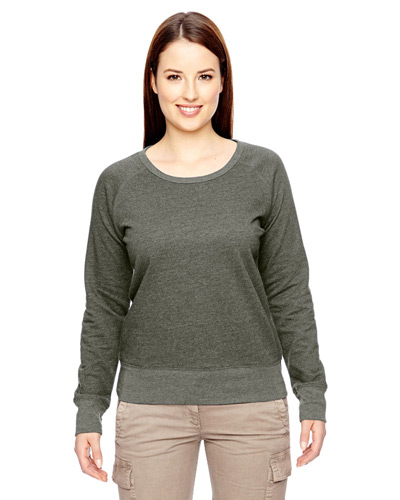 Ladies' 7 oz. Organic/Recycled Heathered Fleece Raglan Pullover