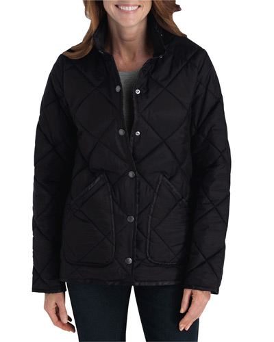 Ladies' Diamond Quilted Nylon Jacket