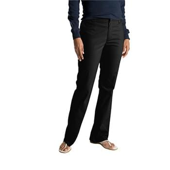 Ladies' Slim Fit Boot Cut Stretch Twill Pant
