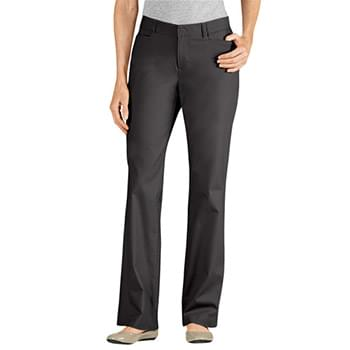 Ladies' Curvy Fit Straight Leg Flat Front Pant