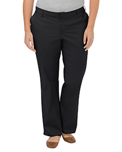 Ladies' Plus Size Premium Relaxed Fit Straight Leg Flat Front Pant