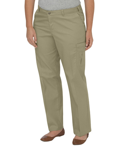 Ladies' Premium Relaxed Plus-Size Straight Cargo Pant