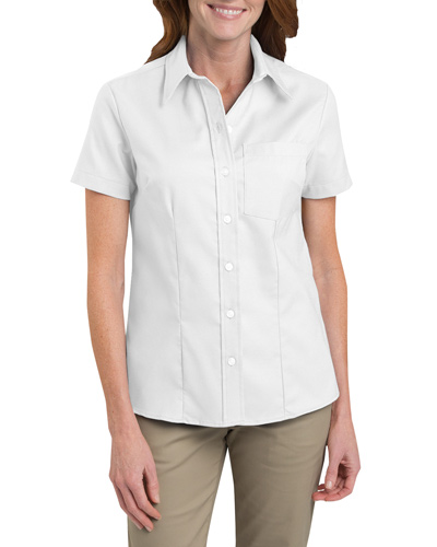 Ladies' Short-Sleeve Stretch Oxford Shirt