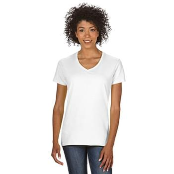 Ladies'   Heavy Cotton 5.3 oz. V-Neck T-Shirt