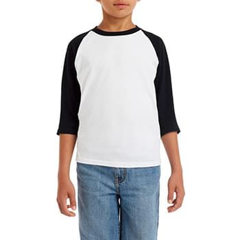 Youth  Heavy Cotton 5.3 oz. 3/4-Raglan Sleeve T-Shirt