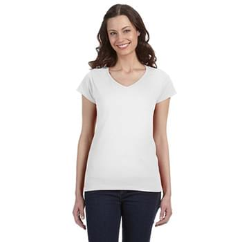 Ladies' SoftStyle 4.5 oz. Fitted V-Neck T-Shirt