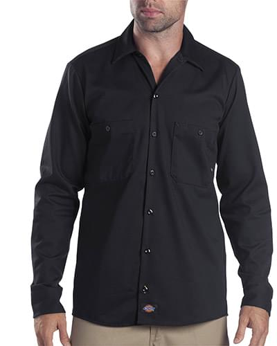 6 oz. Industrial Long-Sleeve Cotton Work Shirt