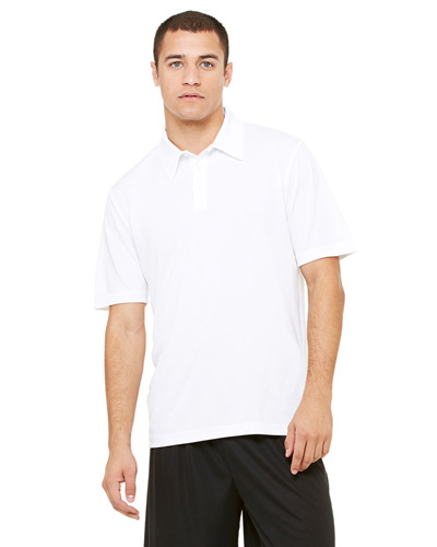 Unisex Performance Three-Button Mesh Polo