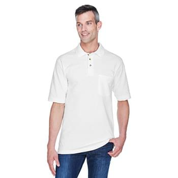 Adult 6 oz. Ringspun Cotton Piqu Short-Sleeve Pocket Polo