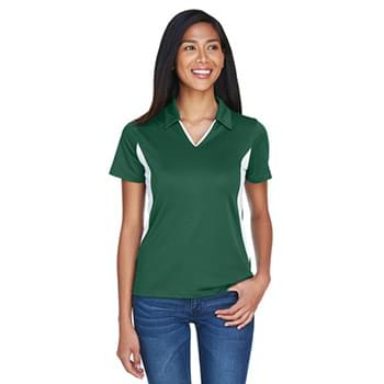 Ladies' Side Blocked Micro-Piqu Polo