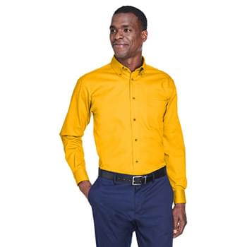 Men's Easy Blend Long-Sleeve TwillShirt withStain-Release