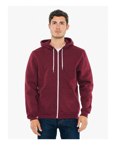 Unisex Salt And Pepper Hooded Zip Sweatshirt