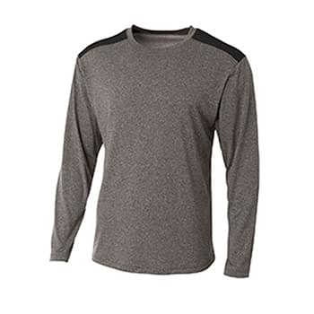Men's Tourney Heather Color Block Long Sleeve T-Shirt