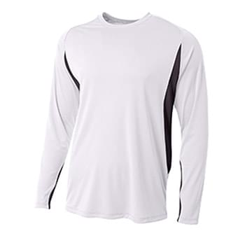 Men's Long Sleeve Color Block T-Shirt