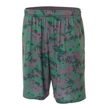"Adult 10"" Inseam Printed Camo Performance Shorts"