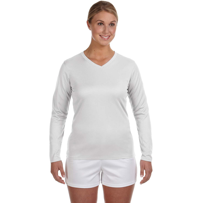 Ladies' Ndurance Athletic Long-Sleeve V-Neck T-Shirt
