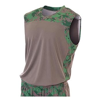 Youth Camo Performance Muscle Shirt
