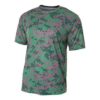 Youth Camo Performance Crew T-Shirt
