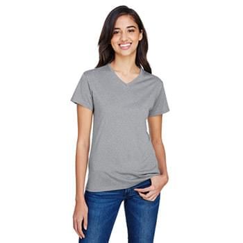 Ladies' Topflight Heather V-Neck T-Shirt