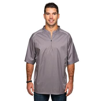 Adult Short Sleeve 1/4-Zip Poly Dobby Jacket