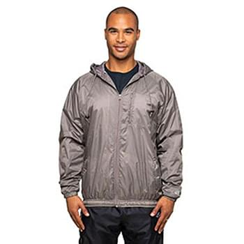 Adult Nylon Taffeta Hooded Coaches Jacket