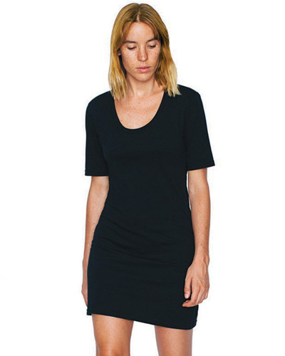 Ladies' Fine Jersey Short-Sleeve T-Shirt Dress